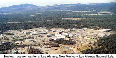 Nuclear research center at Los Alamos, New Mexico
