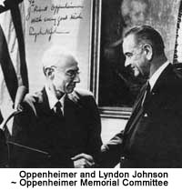 Oppenheimer and Lyndon Johnson